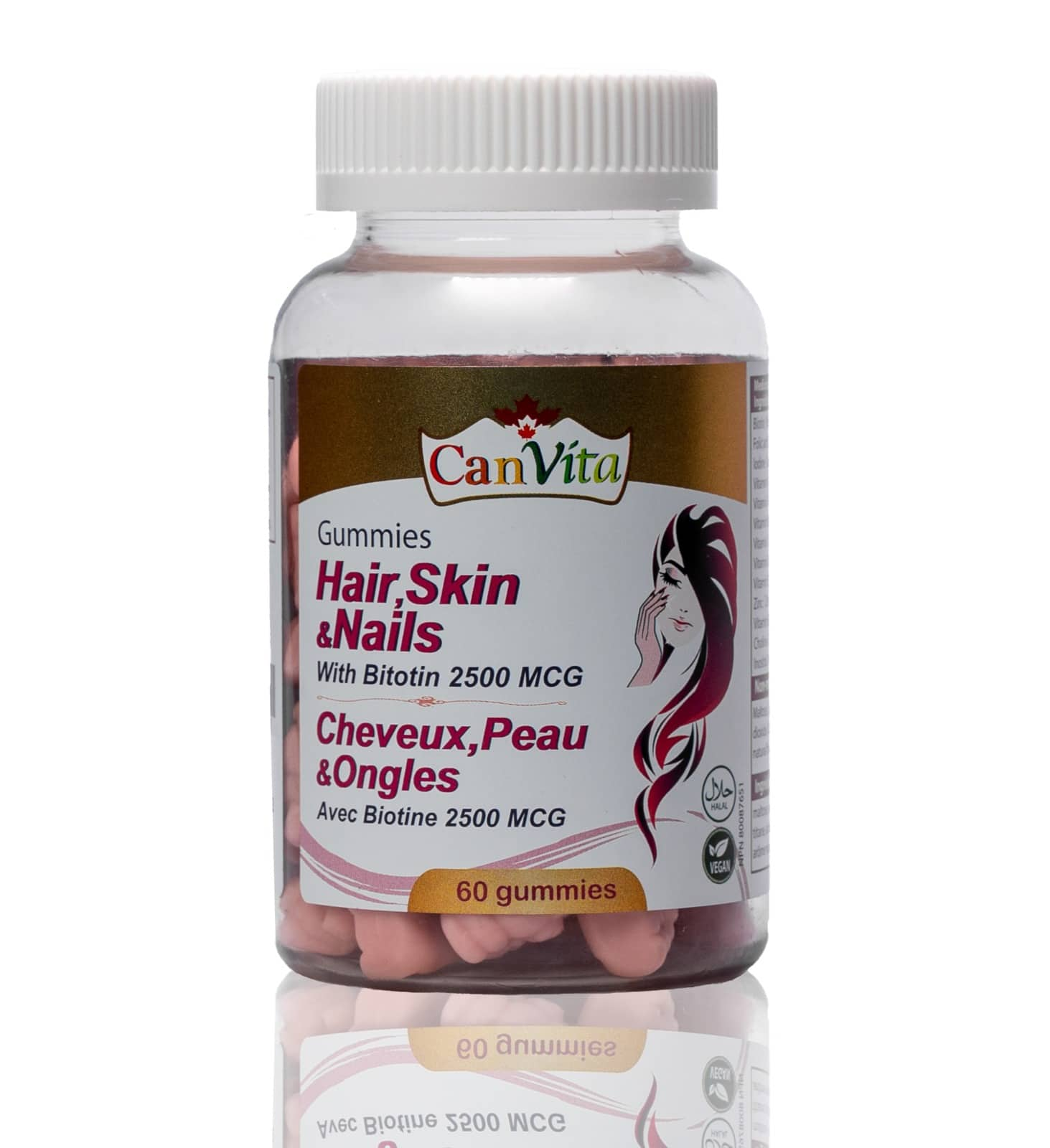 Canvita Hair, skin and nails gummy